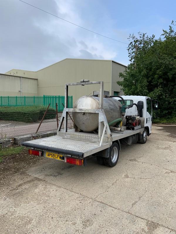 3.5 Tonne Vacuum Tanker Stainless Steel