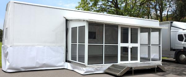 Refurbished 13m Single Gullwing Exhibition Traile