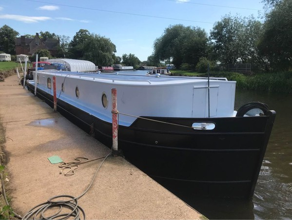 Brand New 65ft x 12ft Wide Beam Barge Style Boat