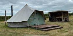 6m Bell tents with lockable doors