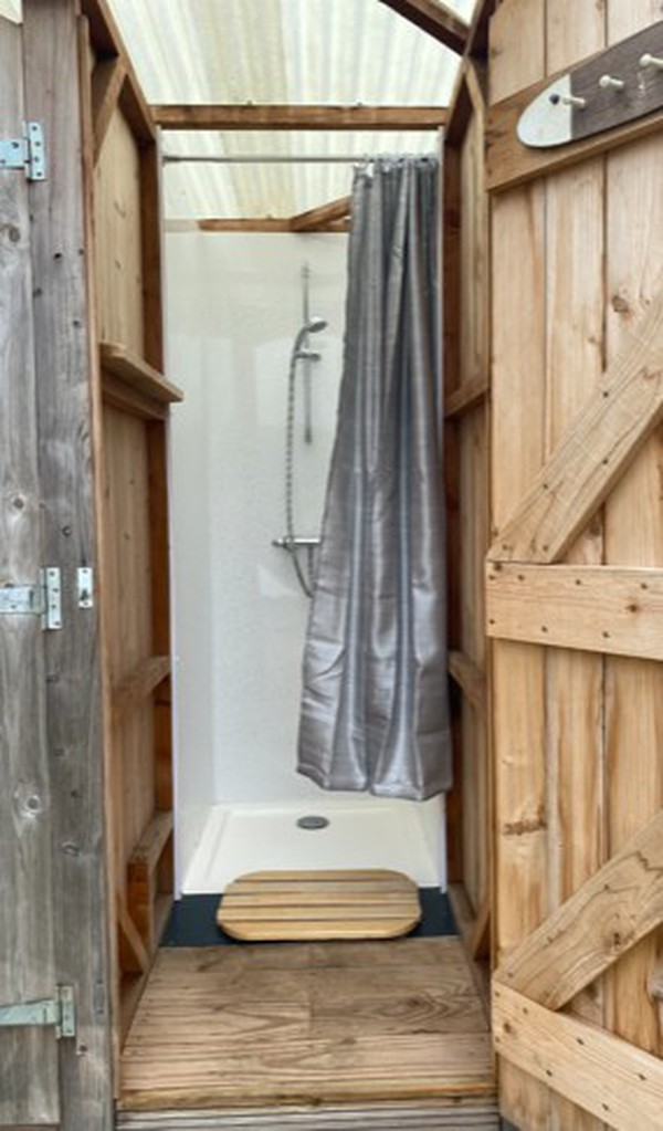 Glamping shower