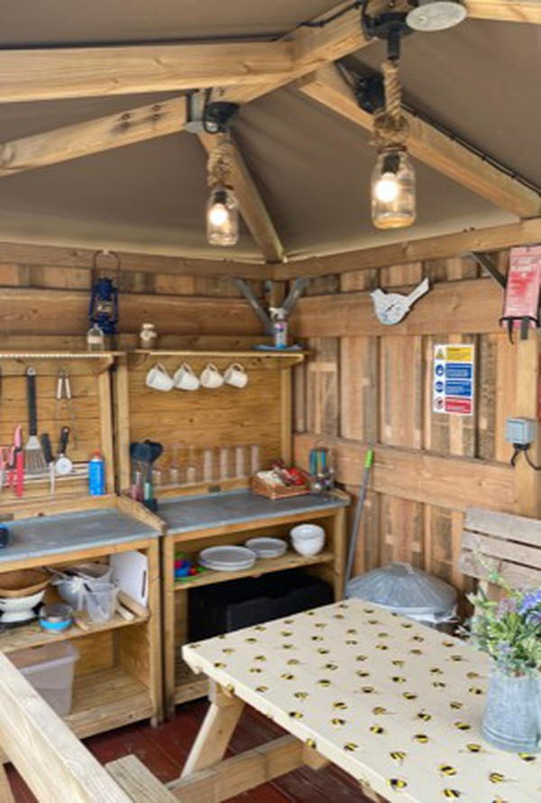 Open Air Glamping Kitchen