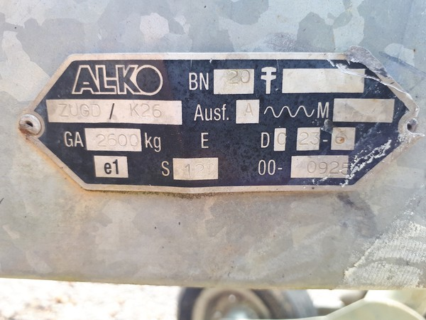 Buy Used AL-KO Generator Trailer/Chassis