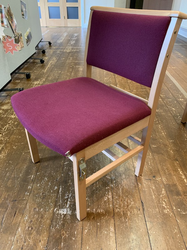 50x Solid Beech Church Chairs  for sale