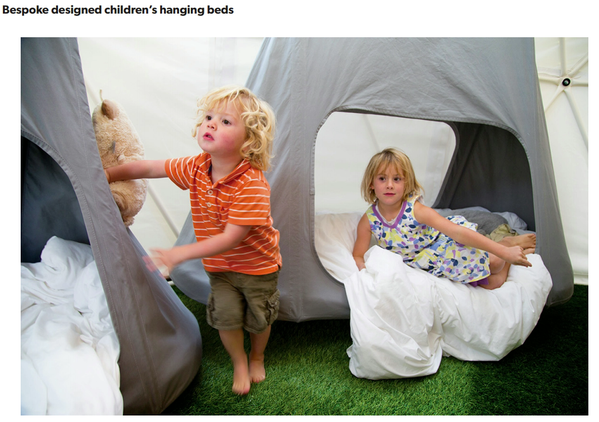 Childrens hanging beds