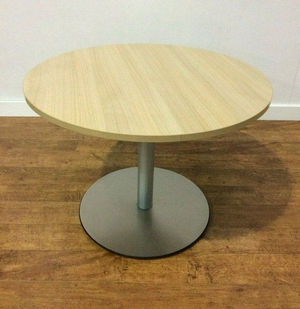 Round Laminate Light Oak Tables