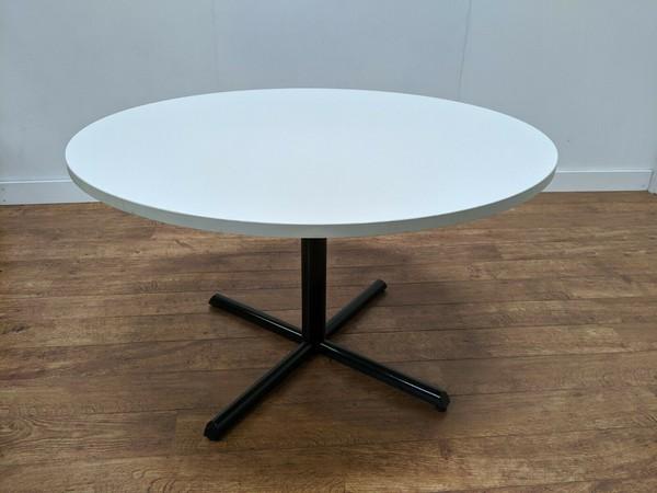Wonderful White Laminate Round 1200mm Tables