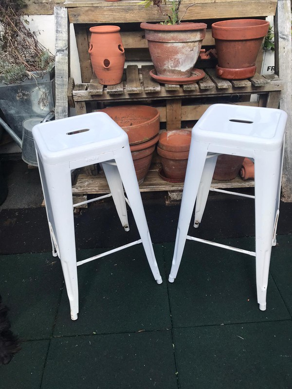 White Tolix stools for sale