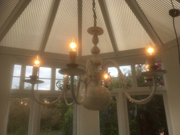six arm chandeliers
