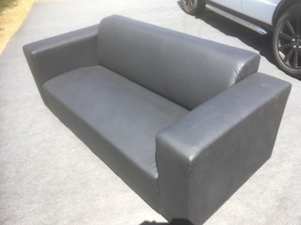 Black Faux Leather Event Seating