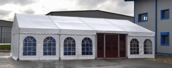 Marquee with doors and windows
