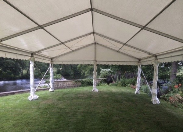 Open air marquee for social distancing