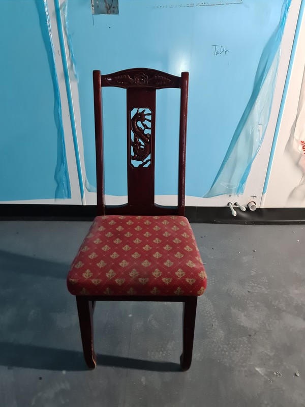 Dark Wood Solid Dining Chair joblot
