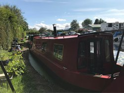 36ft Narrow Boat Moored On The Lancaster Canal 1995