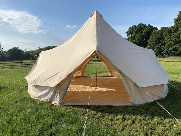7m Bell tent with built in groundsheet