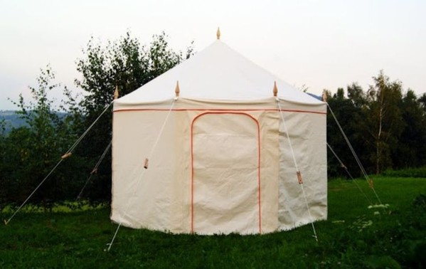 4m Octagonal Canvas Tent - Glastonbury, Somerset 2