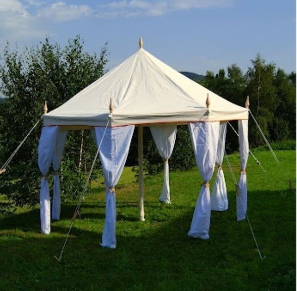 4m Octagonal Canvas Tent - Glastonbury, Somerset 3