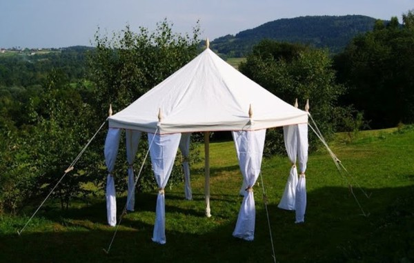 4m Octagonal Canvas Tent - Glastonbury, Somerset 5