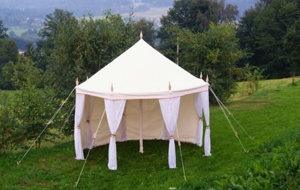 4m Octagonal Canvas Tent - Glastonbury, Somerset 4
