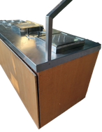 Carvery counter on wheels