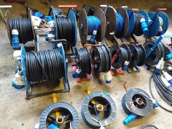 Used Marquee Distribution Cables on Reels