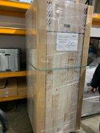 Tall fridge with wood look