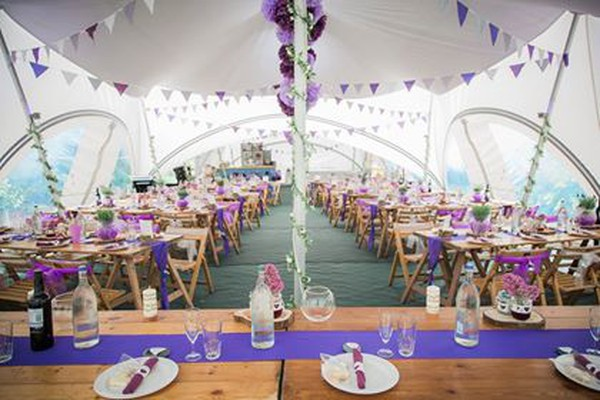 30Ft x 80Ft Trapeze marquee