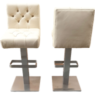 High bar stools in cream leather