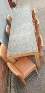 Granite high bar table and stools