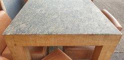 Oak and Granite high bar table