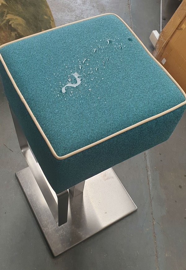 Turquoise liquid repellant upholstered tops