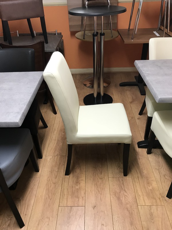 Cream Faux Leather Restaurant Chairs