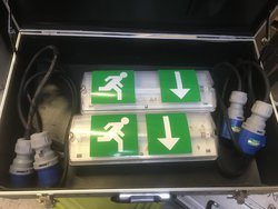 Marquee fire exit signs
