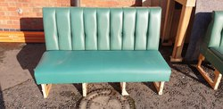 Fixed Fauux Leather Bench