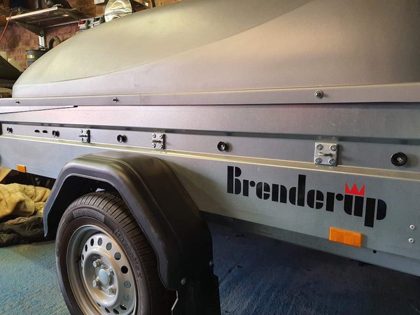 Brenderup 1205s Trailer with ABS Lid
