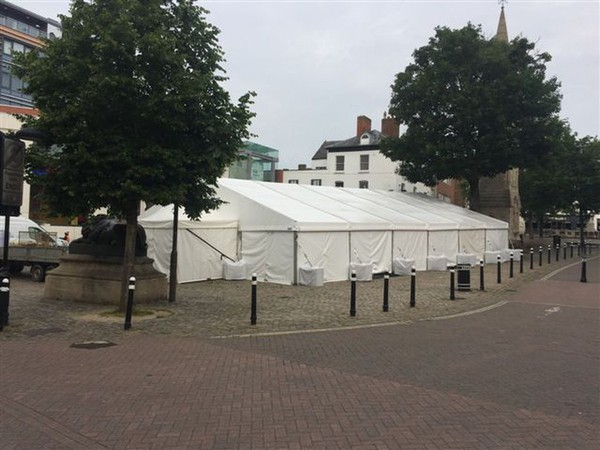 Used Bar Tensioned Marquee Roofs