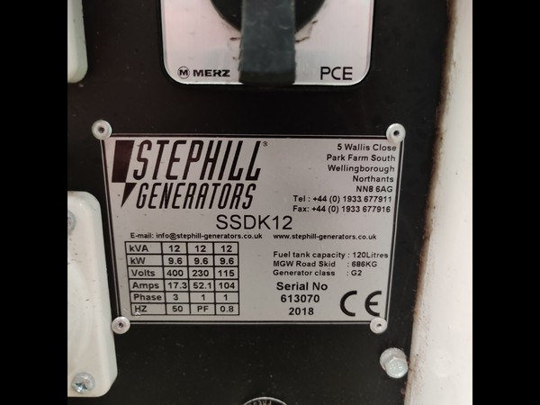 Stephill SSDK12 Generator