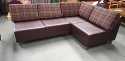 Tartan corner sofa
