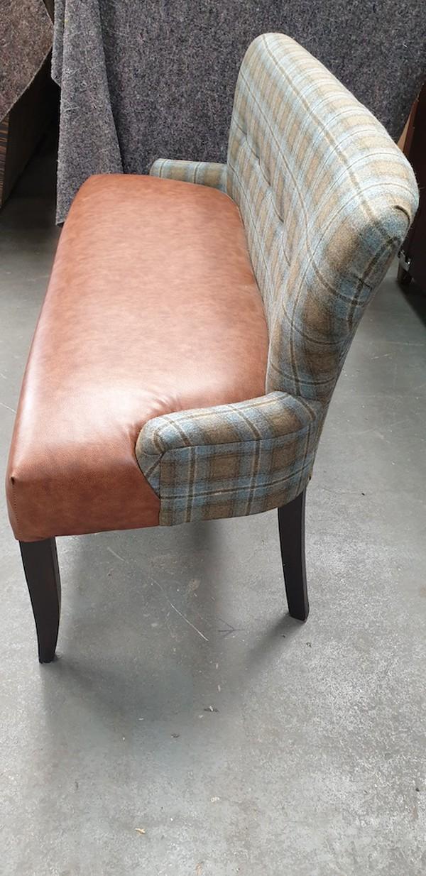 upholstered settle