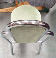 Chrome restaurant chairs stacking