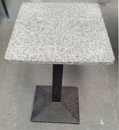 Real mottled Grey granite table tops