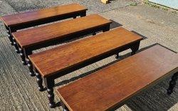 Long Oak coffee tables