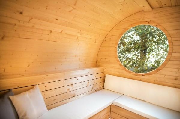 Glamp site sauna