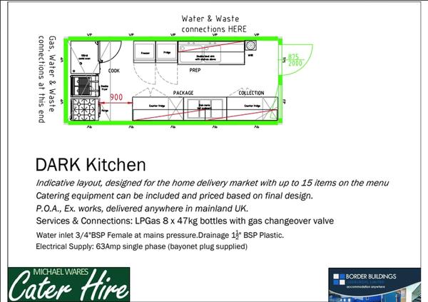 Dark kitchen for hire or sale
