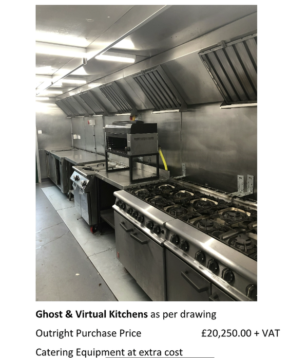Ghost & virtual Kitchens for sale
