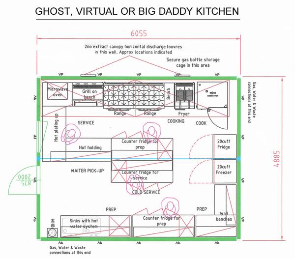 Large Ghost kitchen cabin AKA Big Daddy!
