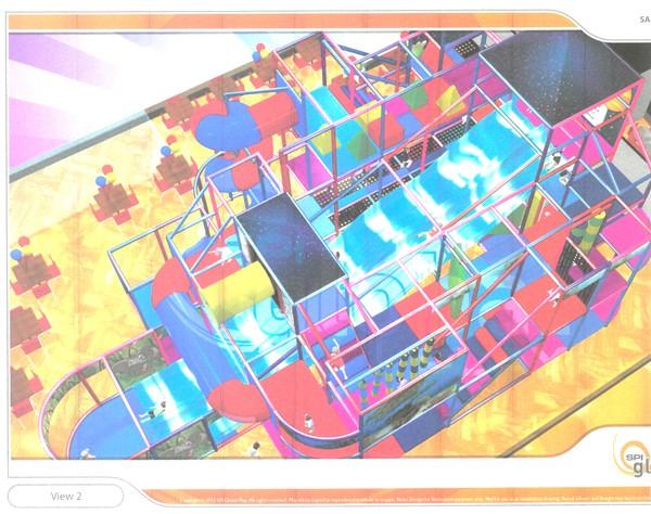 3d Indoor soft play area design