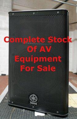 Complete Stock Of AV Equipment For Sale