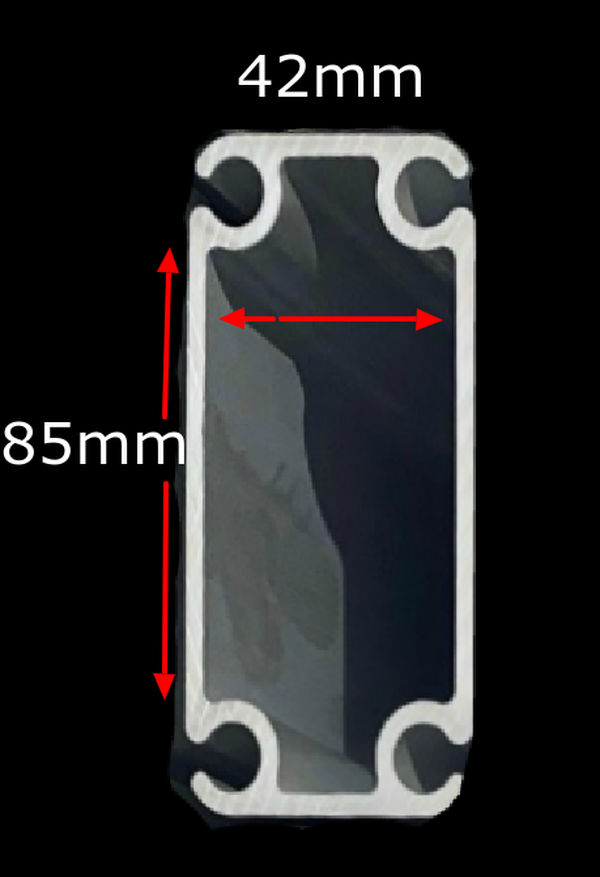 Aluminium Profile Insert measurement 85mm x 42mm