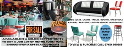 Job Lot of Bel.Air Retro Chairs and Tables